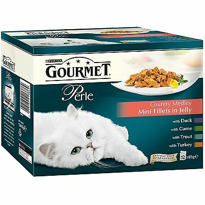 Purina Gourmet Perle Wet Cat Food Mini Fillets In Gravy 48 Pouches x 85 G * NEW