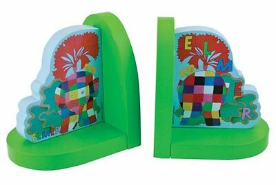 Elmer The Elephant Wooden Bookends