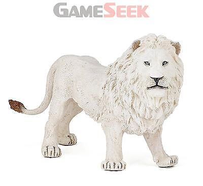Papo Wild Animal Kingdom, Large White Lion Figurine - Toys Brand New