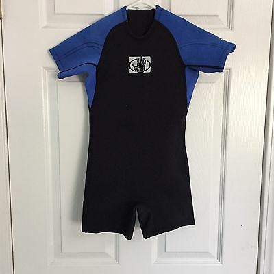 BODY GLOVE Kids C4 Wet Suit Blue Black Boys Girls USED
