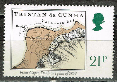 Tristan Da Cunha Islands Map/Plan stamp 1976 MLH