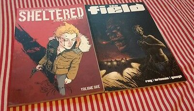 Ed Brisson Graphic Novel Collection, Sheltered v1 and The Field both in GC