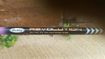 "Berkley Revolution Graphite 6'6"" (2m)  3-4 kg 2pc Spinning Fishing Rod + Reel"
