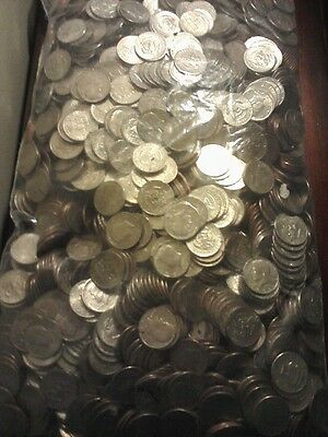 2,000 US. HALF DOLLAR COIN LOT (UNSEARCHED) FOR SILVER or ERRORS+10 SILVER COINS