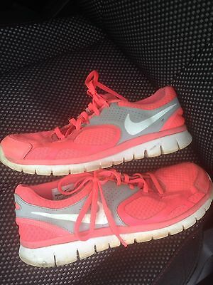 Nike Training Running Shoes Size 9.5 Workout Women's Hot Pink Gray White