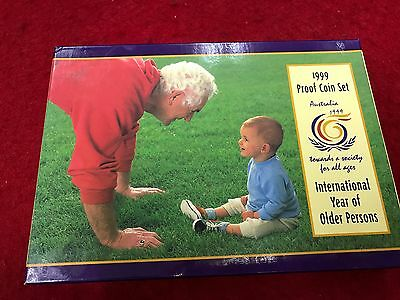 1999 Proof Coin Set  International Year of Older Persons Royal Australian Mint