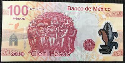 Mexico 2010 Commemorative 100 Pesos Paper Note- 100 Year Anniversary