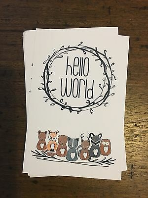 Baby milestone cards woodlands