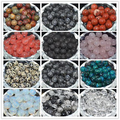 NEW Wholesale Natural Gemstone Round Spacer Loose Beads 4MM 6MM 8MM 10MM DIY