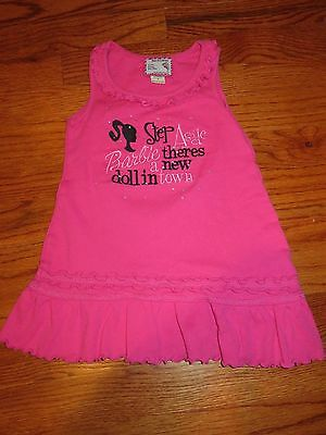 Toddler girls boutique Barbie dress, size 3T, EUC pink, couture, summer