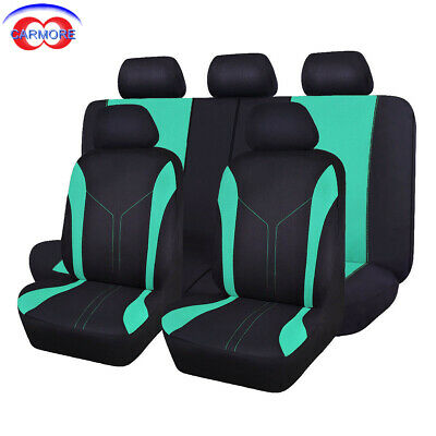 Flying banner car Seat Covers Universal mint blue rear seat 40/60 50/50 split