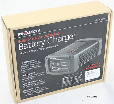 (B) Projecta Intelli-Charge Battery Charger 12V, 7 AMP IC700W