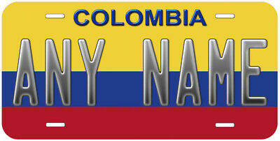 Colombia Flag Any Text Personalized Novelty Car License Plate