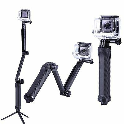 3 Way Adjustable Monopod Pole Selfie Stick camera tripod mount GoPro Hero4 3+7 5