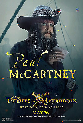Pirates Of The Caribbean Dead Man Tell No Tales Movie Poster Paul Mccartney Depp