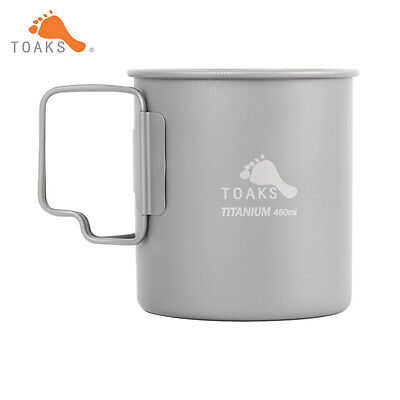 450ML Coffee Mugs Titanium Camping Drinkware Outdoor Camping Titanium Mug