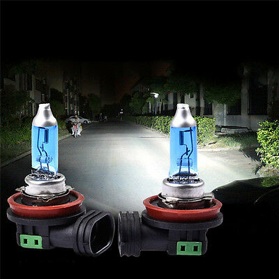 2x H11 12V 55W Bright White 6000K Quartz Halogen Bulb Car Headlight Lamp Light
