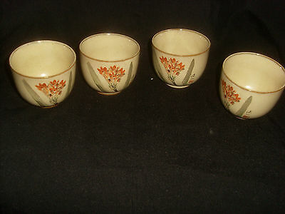 Set of 4 Oriental  Pottery cups.