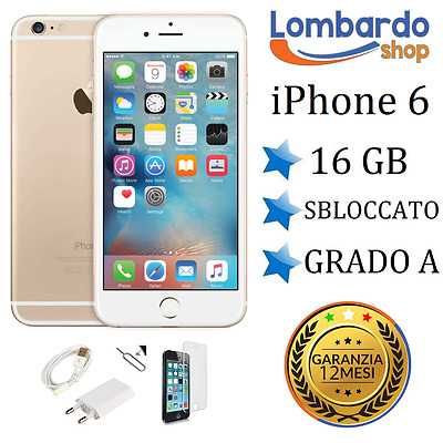 Apple Iphone 6 16 Gb Grade A Gold Original Regenerated Reconditioned Second Hand