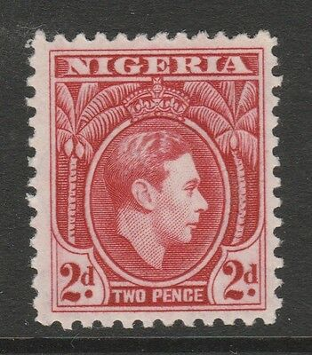 1938 NIGERIA 2d RED KING GEORGE VI STAMP – MLH