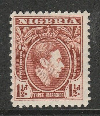 1938 NIGERIA 1-1/2d BROWN KING GEORGE VI STAMP – MVLH