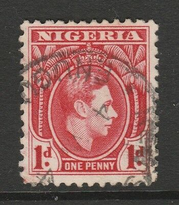 1938 NIGERIA 1d RED KING GEORGE VI STAMP – USED
