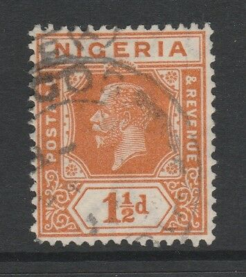 1914 NIGERIA 1-1/2d ORANGE STAMP – USED