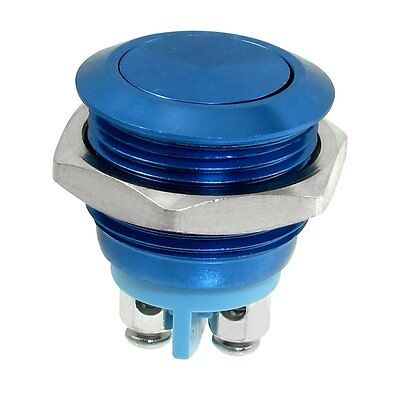 16mm Flush Mounted Momentary SPST Stainless Steel Push Button Switch F8K6