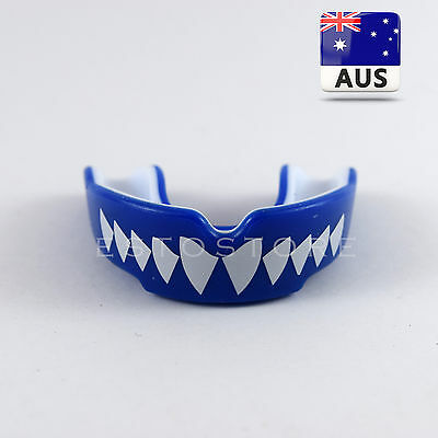 Custom Mouth Guard, Boxing Mouthguard Teeth Protector Gum Shield MMA *BLUE*