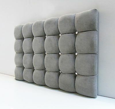 Super Cube Padded Headboard Bed Head In Leather, Chenille, Suede, Crushed Velvet