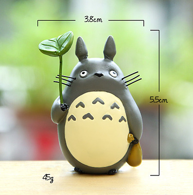 Cartoon Cute My Neighbor Totoro DIY Micro Landscape Leaves Figure Toy Gift Top