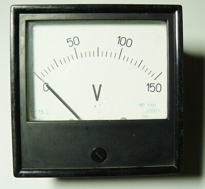 Russian Soviet Analog Device Voltmeter Tester USSR 1981 Panel Meter