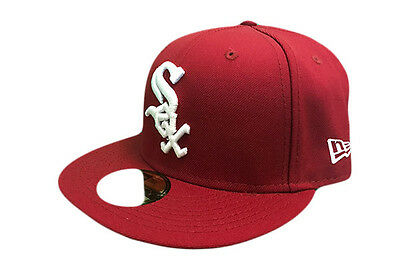 Chicago White Sox MLB League Basic New Era 59FIFTY Baseball Cap Cardinal/White