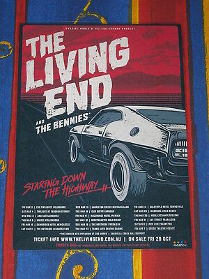 THE LIVING END - 2017  Australian Tour Poster -  Laminated  - NEW