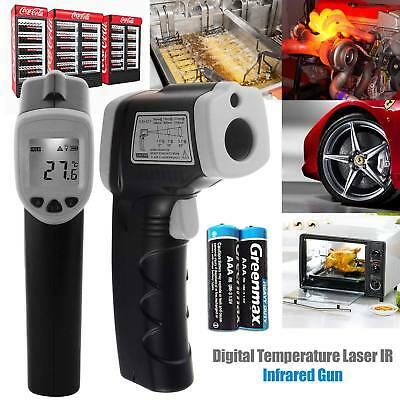 Handheld LCD Digital Laser Temperature Thermometer w/ Battery Gun Non-Contact IR