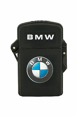 BMW Windproof and Waterproof Refillable Jet Flame Gas Cigar Lighter