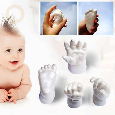 3D Plaster Handprints Footprints Baby Hand & Foot Casting Kit Keepsake Gift New