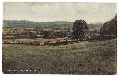 WRINGTON General View, Somerset, Old Postcard by R.A. Unused