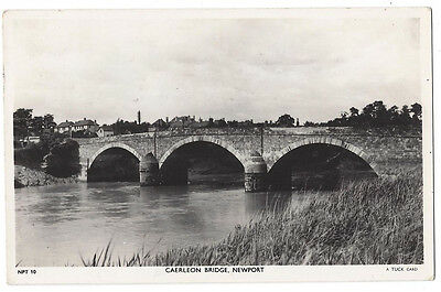 NEWPORT Mon, Caerleon Bridge, RP Postcard by Tuck Postally Used 1953