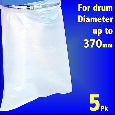 5x Dust Extractor Polythene Collection Bags 24 x 36 Charnwood Fox Scheppach SIP