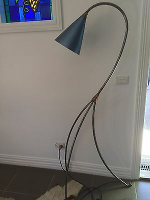 Rare Retro Antique Anodised Lamp Suit Funky Modern Home It's A One Of A Kind!!!!