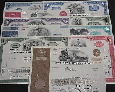 COLLECTION with 10 different USΑ Shares & Bonds Certificates LOT-46