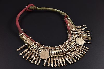 Antique Old Tharu necklace Tribal Low Alloy Silver necklace Brass Necklace Nepal