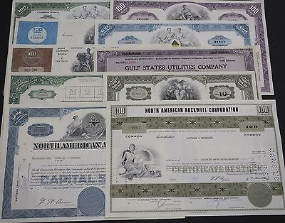 COLLECTION with 10 different USΑ Shares & Bonds Certificates LOT-48