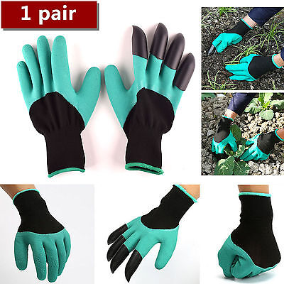 1pair Garden Gloves GENIE Digging&Planting 4ABS Plastic Claws Durable Waterproof