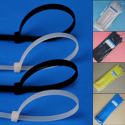 100PCS Multifunction Self locking Nylon Cable Wire Zip Tie Cord Strap Wrap New