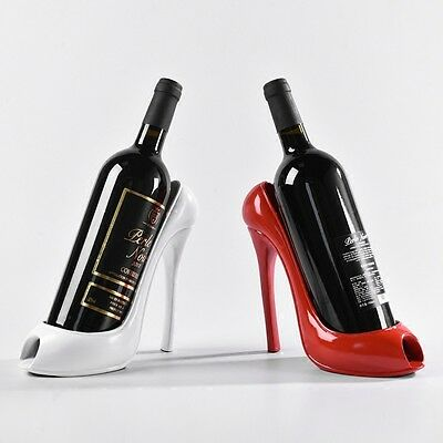 High Heel Shoe Wine Bottle Holder Stylish Rack Gift Basket Accessories