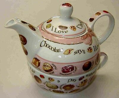 "Cardew Design Inc  Tea-For-One Teapot - ""chocolates"" Designed In England - 2012"
