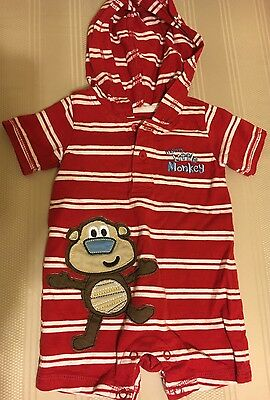 Baby Boys 1 Piece Short Sleeve Shorts Outfit Size 3 Months Jumping Bean