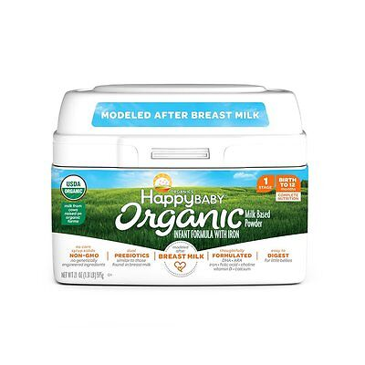 New Happy Baby Stage 1 Organic Infant Formula with Iron - 21 Ounce